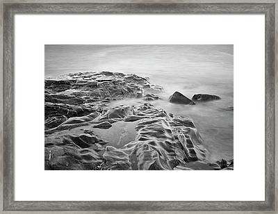 Framed Print featuring the photograph Allens Pond Xviii Bw by David Gordon