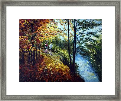 Alley By The Lake 1 Framed Print