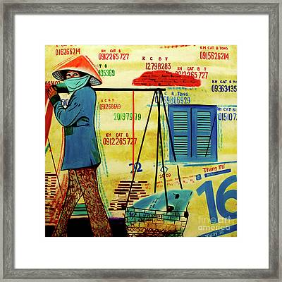 Alley Cat Merchant, The Vietnam Collection Framed Print