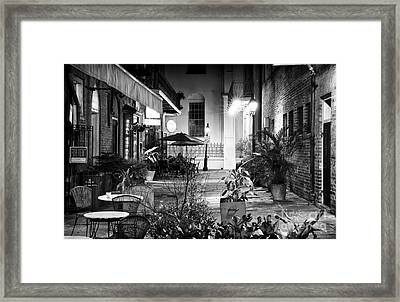 Alley Dining Framed Print by John Rizzuto