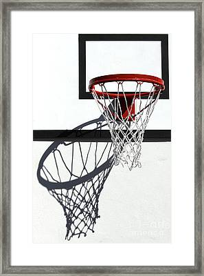 Framed Print featuring the photograph Alley Hoop by Stephen Mitchell