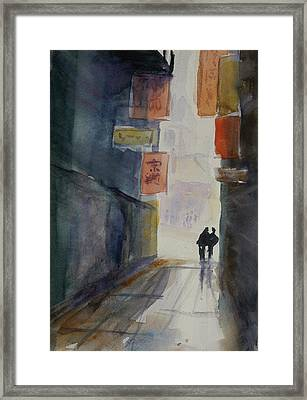 Alley In Chinatown Framed Print