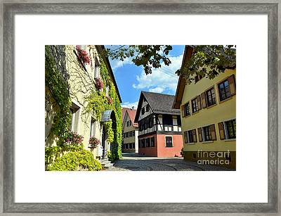 Alley In A Small Town In Germany Framed Print by Elzbieta Fazel