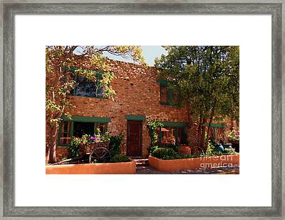 Alley In Old Town Santa Fe Framed Print by Christiane Schulze Art And Photography