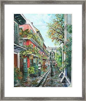 Alley Jazz Framed Print