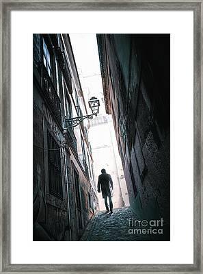 Alley Man Framed Print by Carlos Caetano