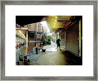 Alley Market End Of Day Framed Print