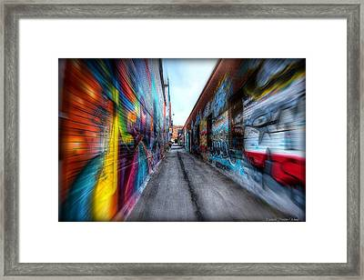 Framed Print featuring the photograph Alley by Michaela Preston