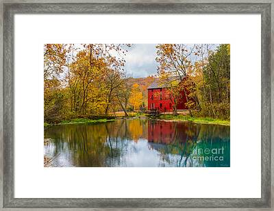 Alley Mill And Spring Framed Print