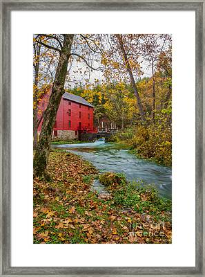 Alley Mill In Autumn Framed Print