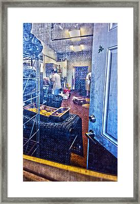 Alley Screen Door Framed Print