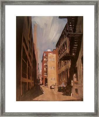 Alley Series 1 Framed Print by Anita Burgermeister