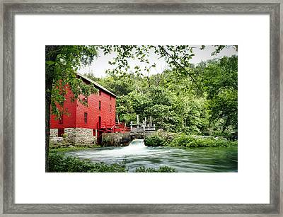 Alley Spring And Mill Framed Print by Cricket Hackmann