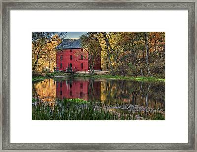 Alley Spring Mill Fall Mo Dsc09240 Framed Print