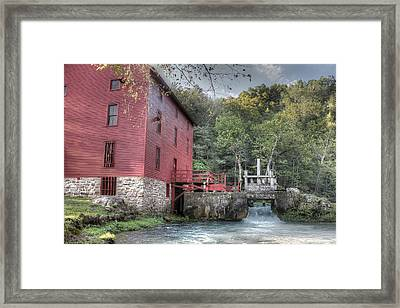 Alley Spring Mill Ozark National Scenic Riverway Framed Print by Jane Linders