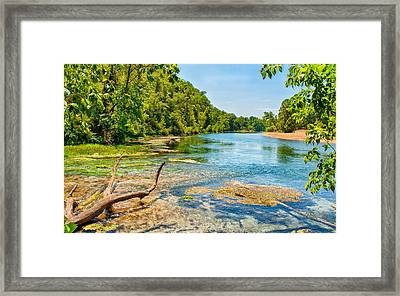 Alley Springs Scenic Bend Framed Print by John M Bailey