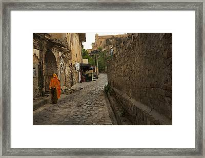 Alley To The Palace On The Hill Framed Print