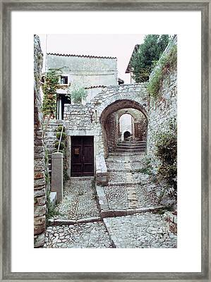 Alley With Arches Framed Print