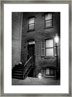 Alleyway In Boston - North End Framed Print
