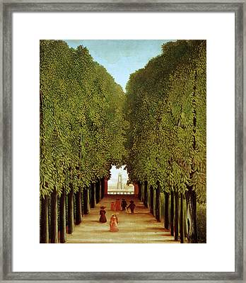 Alleyway In The Park Framed Print by Henri Rousseau