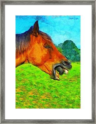 Allienhorse - Da Framed Print