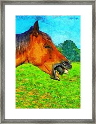 Allienhorse - Pa Framed Print