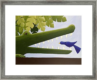 Alligator Nursery Art Framed Print by Christy Beckwith