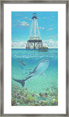 Alligator Reef Lighthouse Framed Print