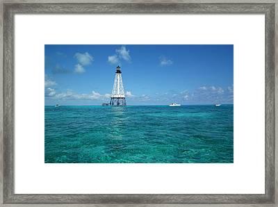 Alligator Reef Lighthouse Framed Print