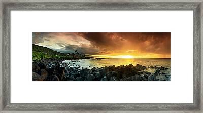 Alligator Rock Sunset Framed Print