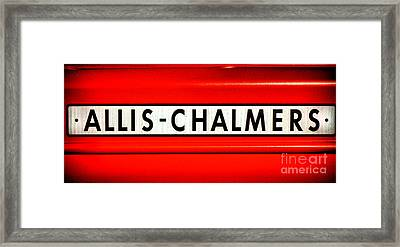 Allis Chalmers Framed Print by Olivier Le Queinec