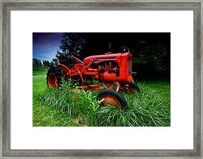 Allis Chalmers Tractor Framed Print by Cale Best