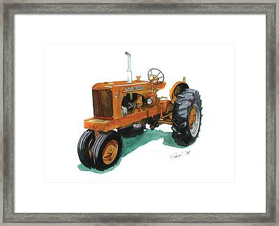 Allis Chalmers Tractor Framed Print by Ferrel Cordle