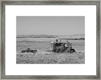 Allis-chalmers Tractor Framed Print by Troy Montemayor
