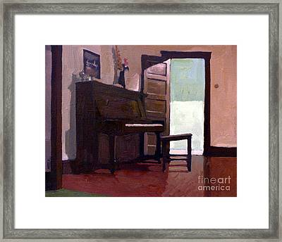 Allison's Piano Framed Print by Donald Maier