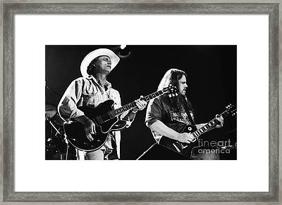 Allman Brothers-dickey-warren-0164 Framed Print by Gary Gingrich Galleries