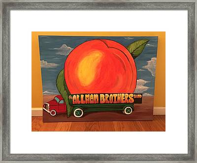 Allman Brothers Eat A Peach Framed Print