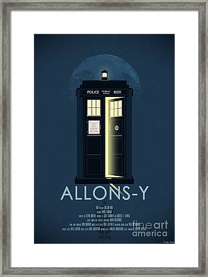 Allons-y Doctor Who Poster Framed Print by Aurelien Meray