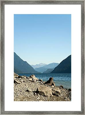 Allouette Lake Framed Print by Emilio Lovisa