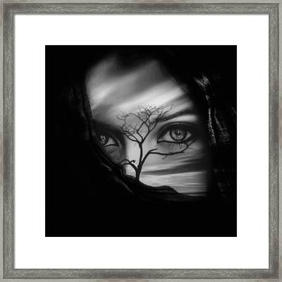 Allure Of Arabia Black Framed Print by ISAW Gallery