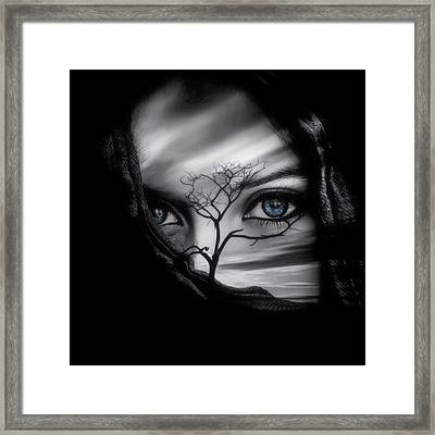 Allure Of Arabia Blue Framed Print by ISAW Gallery