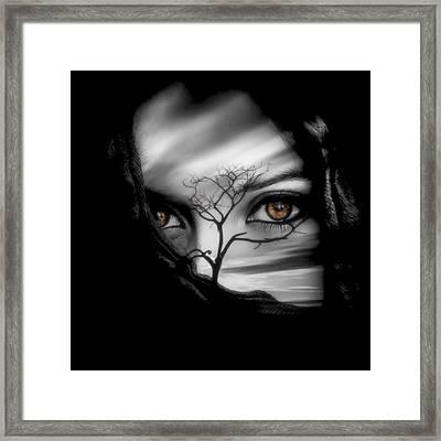 Allure Of Arabia Brown Framed Print