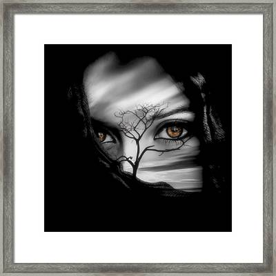 Allure Of Arabia Brown Framed Print by ISAW Gallery