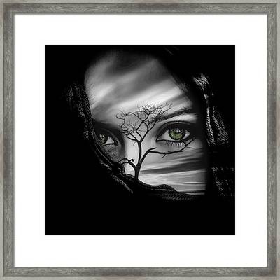 Allure Of Arabia Green Framed Print by ISAW Gallery
