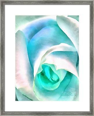 Alluring Blue Framed Print