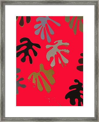 Allusion To Matisse Red Framed Print by Helen Eging
