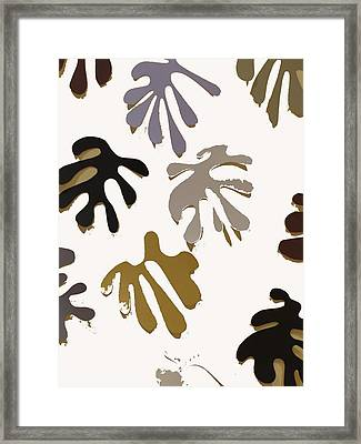 Allusion To Matisse White Framed Print by Helen Eging