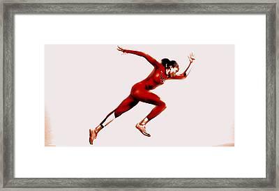 Allyson Felix  Framed Print