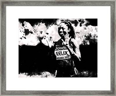 Allyson Felix S1 Framed Print
