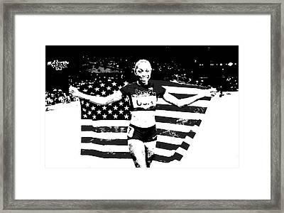 Allyson Felix S1a Framed Print
